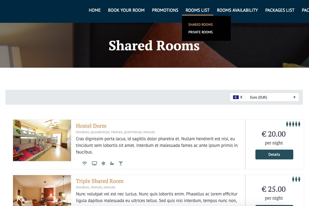 Vik Booking Hostel private and shared rooms configuration