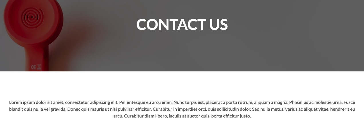 Contact Us Header - Adventures Theme